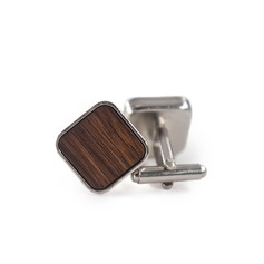 Vintage Wood Copper Cufflinks