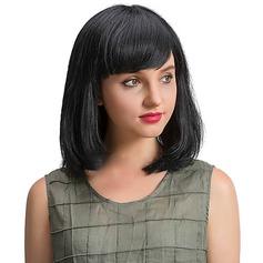 4A Ej remy Straight Mänskligt hår Capless peruker