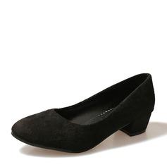 Femmes Suède Talon bas Bout fermé chaussures