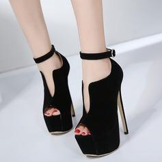 De mujer Ante Tacón stilettos Salón Plataforma Encaje con Hebilla zapatos