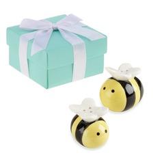 """""""Dulce como puede abeja"""" Cerámico Sal y Pimienta Shakers (Juego de 2)"""