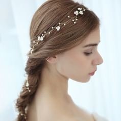 Ladies Beautiful Alloy Headbands With Venetian Pearl (Sold in single piece) (042165727)