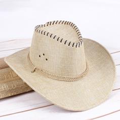 Män Klassisk stil Linné Cowboyhatt