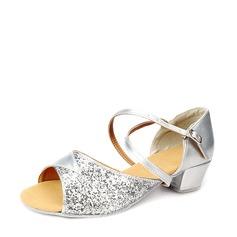 Kvinner Glitrende Glitter Sandaler Latin Dansesko