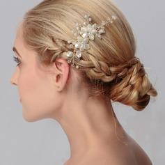 Hermoso/En forma de flor Rhinestone/Aleación/La perla de faux Peines y pasador (Se venden en una sola pieza)