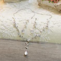 Hermoso Diamantes de imitación/Circón Señoras' Sistemas de la joyería