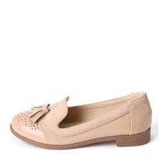 Mädchens Geschlossene Zehe Slipper & Slips Leder Flache Ferse Flache Schuhe Blumenmädchen Schuhe mit Quaste