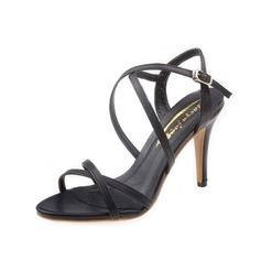 Kadın Suni deri İnce Topuk Sandalet Arkası açık iskarpin Ile Toka ayakkabı (087050193)