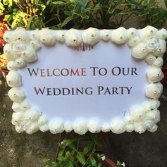 wedding Registe- Strass/Organza de Delicado Decorações de casamento