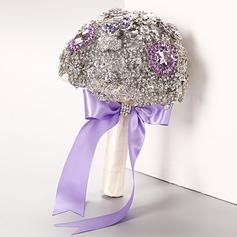 Привлекательным Круглый горный хрусталь Свадебные букеты -