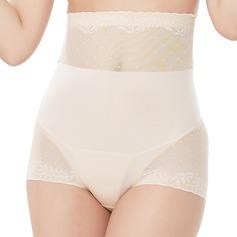Mulheres Elegante/Charme Chinlon/Nailon Cintura Alta Cuecas Calcinha shaper do corpo