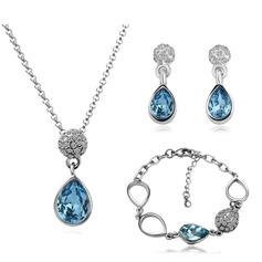 Elegant Crystal/Metal Ladies' Jewelry Sets