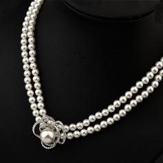 Gorgeous Pärla med Österrikiska Kristall Damer' Halsband