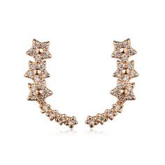stjärna formad Legering med Strass Kvinnor Mode örhängen