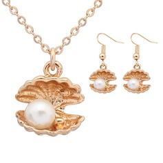 Magnifique Alliage De faux pearl avec Perle d'imitation Dames Parures