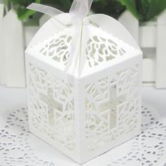 Corte Láser Cruz Cubic Cajas de regalos con Cintas