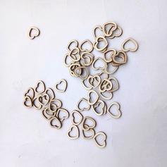 En forma de corazón/Diseño corazón Precioso/Elegante Madera Ornamentaciones de Boda