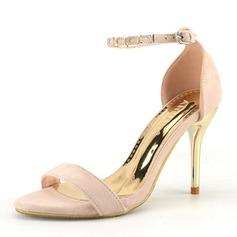 Kvinnor Mocka Mesh Stilettklack Pumps Peep Toe med Oäkta Pearl Andra Flätad rem Split gemensamma skor