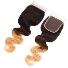 """4""""*4"""" 4A Non remy Corps les cheveux humains Fermeture (Vendu en une seule pièce) 40g"""