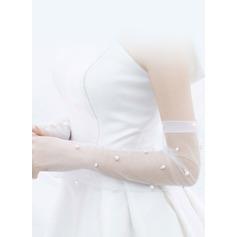 Tyll/Fauxen Pärla Handskar Bridal