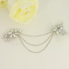Unique Alloy Combs & Barrettes With Crystal (Sold in single piece)