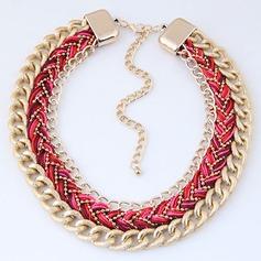 Chic Legering Flätade Rep Kvinnor Mode Halsband (Säljs i ett enda stycke)