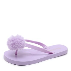 Women's Rubber Flat Heel Sandals Flats Flip-Flops With Fur shoes