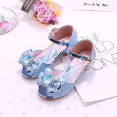 Muchacha Encaje Cerrados Kunstleder Zapatos de niña de las flores con Bowknot