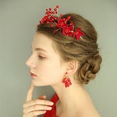 Elegante Crystal/La perla de faux con Crystal/La perla de faux Señoras' Sistemas de la joyería