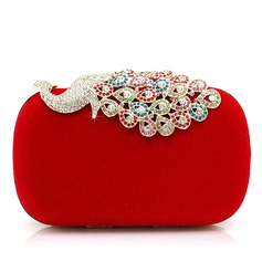 Gorgeous Velvet With Rhinestone/Animal Clutches (012052542)