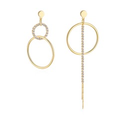 Shining Rhinestones Copper With Rhinestone Women's Fashion Earrings