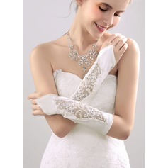 Nylon Elbow Längd Handskar Bridal