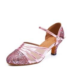 De mujer Cuero Malla Tacones Sala de Baile Zapatos de danza