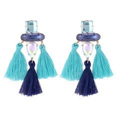 Einzigartig Legierung Glas Frauen Art-Ohrringe