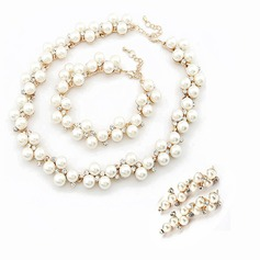 Elegant Alloy/Pearl With Rhinestone Ladies' Jewelry Sets (011057632)