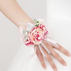 Romantic Free-Form Satin Wrist Corsage