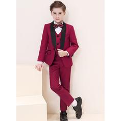Garçons 5 pièces Style Formel Costumes pour les porteurs de bague /Costumes De Garçon De Page avec Veste Chemise Gilet Un pantalon Nœud papillon
