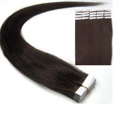 4A Ej remy Rakt människohår Tape i hårförlängningar 20PCS 30g
