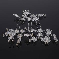 Elegant Crystal/Rhinestone Hårnåler (Sett med 3)