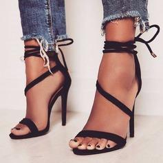 Frauen PU Stöckel Absatz Sandalen Absatzschuhe Peep Toe mit Andere Schuhe