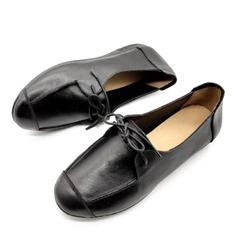 Femmes Vrai cuir Talon plat Chaussures plates أحذية