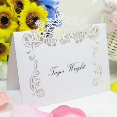 Lovely Rose vine Pearl Paper Place Cards
