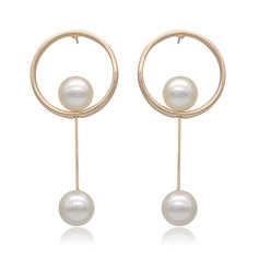 Chic Alloy With Imitation Pearl Ladies' Fashion Earrings