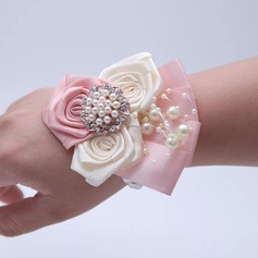 Hand-tied Artificial Flower Flower Sets (set of 2) - Wrist Corsage/Boutonniere