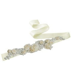 Elegant Satin Sash With Flower (015118670)