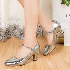 Women's Real Leather Ballroom With Buckle Dance Shoes
