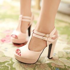 Femmes Similicuir Talon bottier Sandales avec Boucle Ouvertes chaussures