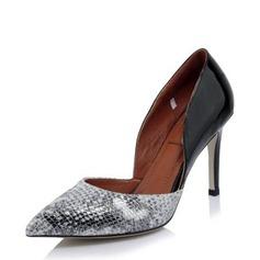 Femmes Vrai cuir Talon stiletto Escarpins Bout fermé avec Autres chaussures