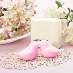 Pink Love Birds Salt and Pepper Shakers