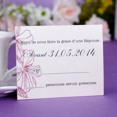 Personlig Blomma mallen Pärla Papper Svarskort (Sats om 50)